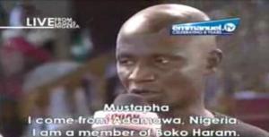 A Boko Haram member making confession